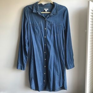 Old Navy Mid-Tone Chambray Button Up Dress